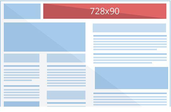 Google Display Banner Sizes Leaderboard (728×90)