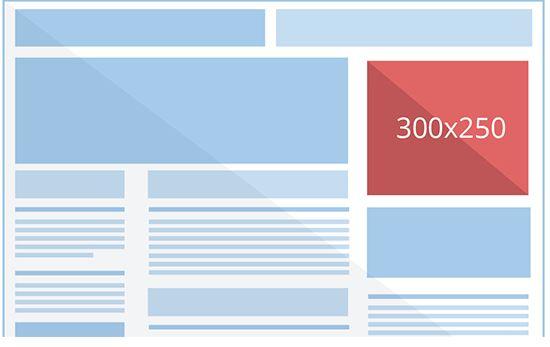The Google Display Banner Medium Rectangle (300×250)