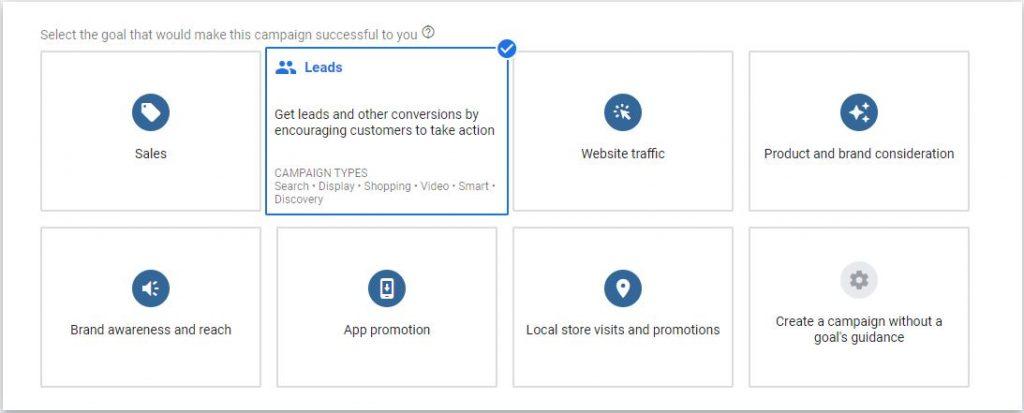 Generate leads using Google Ads