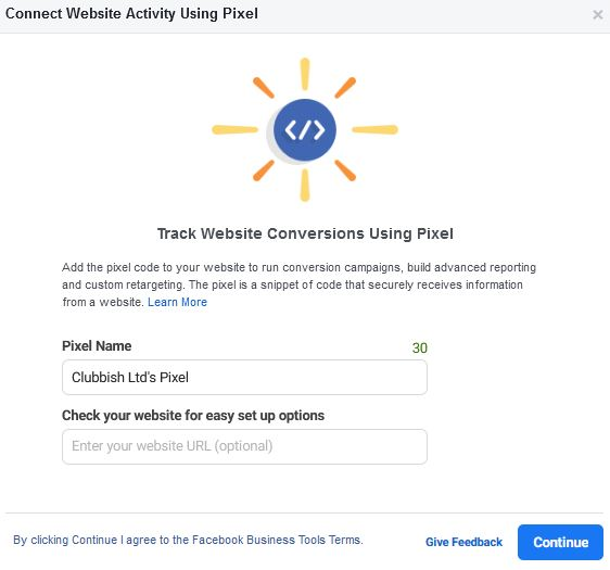 How to setup a facebook pixel in business manager