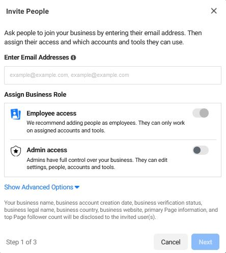 How to add people or partners to your Facebook Business account