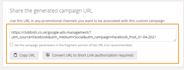 URL Tracking From External Links