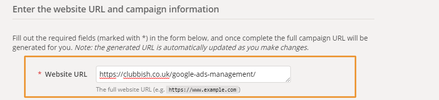 URL Tracking