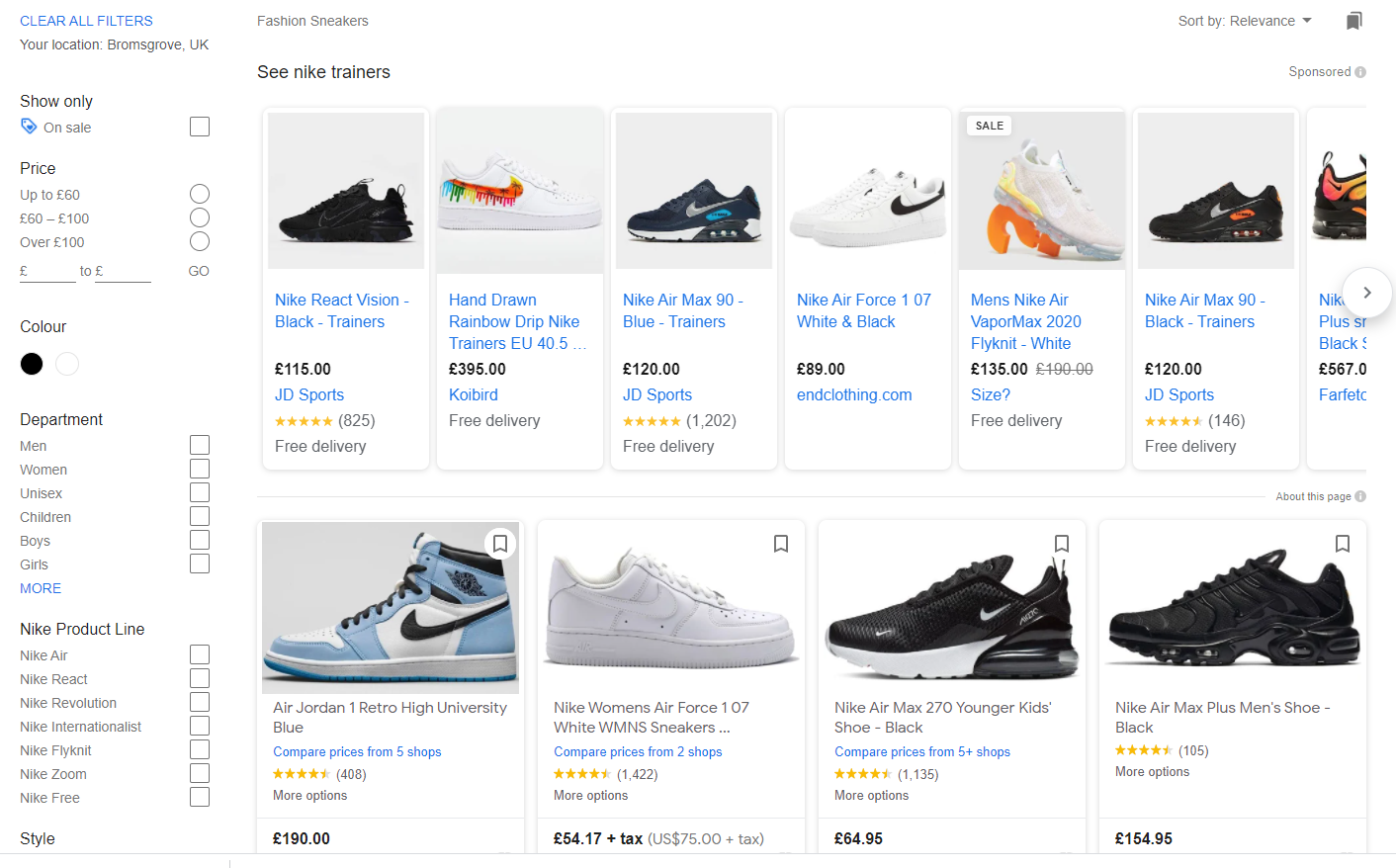 Google Product Listed Ads